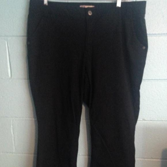 78c5853857a Faded Glory Pants - Faded Glory Plus Size Black Pants